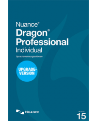 Nuance Dragon Professional Individual 15 Upgrade von Professional 12, 13 oder DPI 14 Download Win, Deutsch (P14287-02)