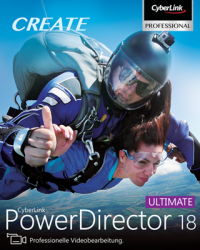 CyberLink PowerDirector 18 Ultimate Download Win, Deutsch (P26410-02)