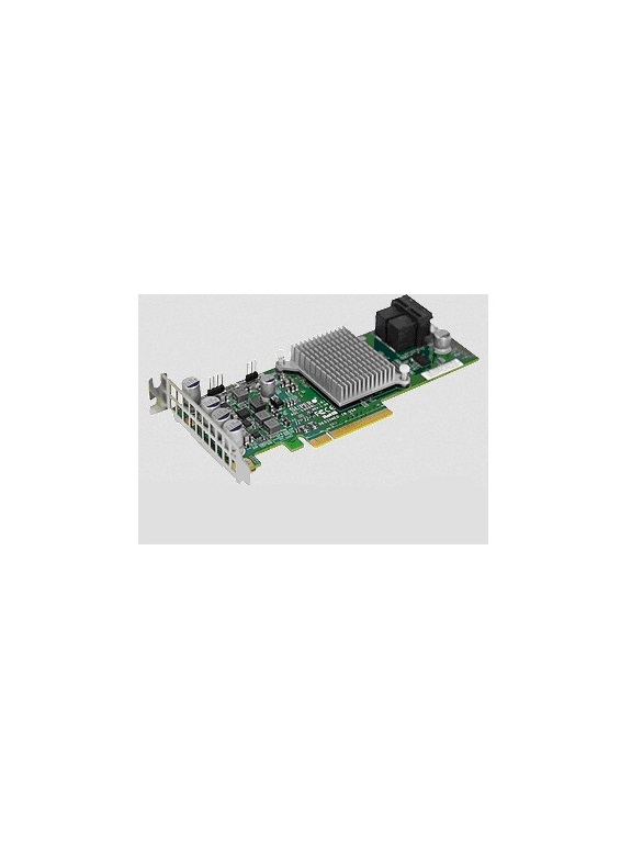 Supermicro Add-on Card Speichercontroller RAID 8 Sender/Kanal SATA 6Gb/s / SAS 12Gb/s Low-Profile 12 Gbit/s 0 1 1E PCIe 3.0 für SuperServer 6017R-NTF (AOC-S3008L-L8I)