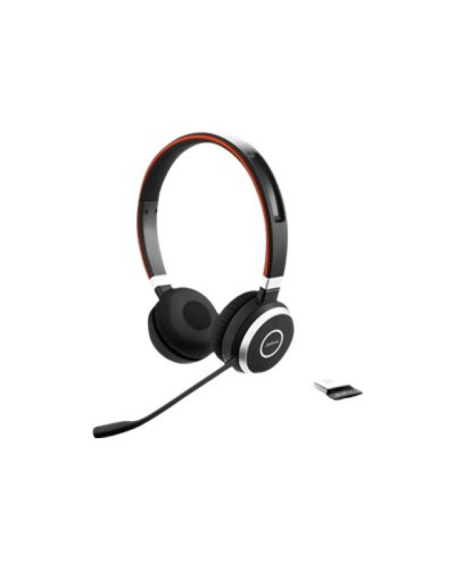 Jabra GN Netcom Evolve 65 UC Stereo Headset On-Ear Bluetooth mit Jabra LINK 360 Adapter
