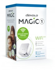 Devolo Magic 1 WiFi mini 1200 Mbit/s IEEE 802.11b,IEEE 802.11g,IEEE 802.11n Typ C Schnelles Ethernet 10,100,1200 10BASE-T,100BASE-TX,1000BASE-T 300 mbps 2x2 MIMO/ 2,4 GHz WPA/WPA2 WPS PIN PBC Wi-Fi Time Schedule 128 Bit AES