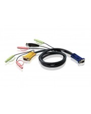 ATEN Video- / USB- / Audio-Kabel Mini-Stecker 15-polig SPHD M bis USB HD-15 VGA M 5 m für MasterView CS-1772 CS-1774