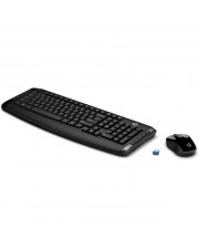 HP Wireless Keyboard & Mouse 300 GR Tastatur Kabellos Schwarz