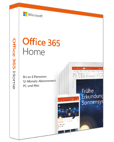 Microsoft Office 365 Home 5 PCs/MACs (Neueste Version) PKC, Deutsch