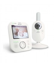 "Philips AVENT Baby monitor White video baby 3.5"" LCD 2.4 Ghz 50-300m 100-240V (SCD630/26)"