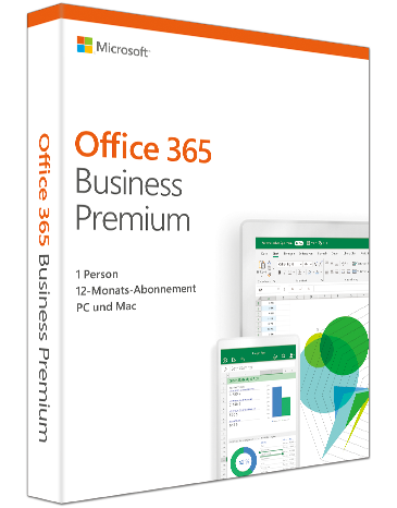 Microsoft Office 365 Business Premium 1 PC/MACs & 1 Tablet PKC, Deutsch (KLQ-00384)