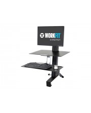 Ergotron WorkFit-S Single HD with Worksurface+ Aufstellung Tablett Spannbefestigung für Tisch Pivot Spalte LCD-Bildschirm/Tastatur/Maus Bildschirmgröße: bis zu 76,2 cm 30 Zoll