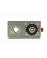 Delock FAKRA L plug spring pin for crimping 1 prepunched hole Modulares Faceplate-Snap-In L Karminrot RAL 3002