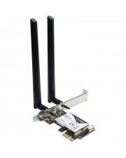 Inter-Tech Wireless+ Bluetooth 5.0 Adapter DMG-35 3000Mbps retail PCI-Express 3.000 Mbps PCI