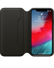 Apple iPhone Xs Leather Folio Black Smartphone