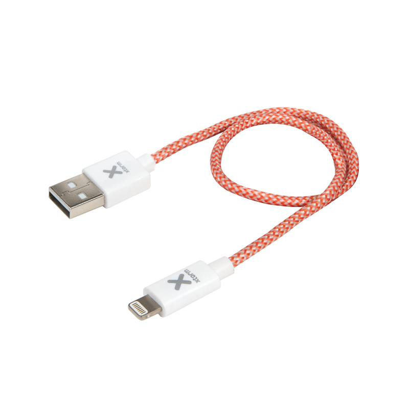 Xtorm 0.2m USB A Lightning Metallisch Rot Weiß Kabel Apple 20 cm 10 g