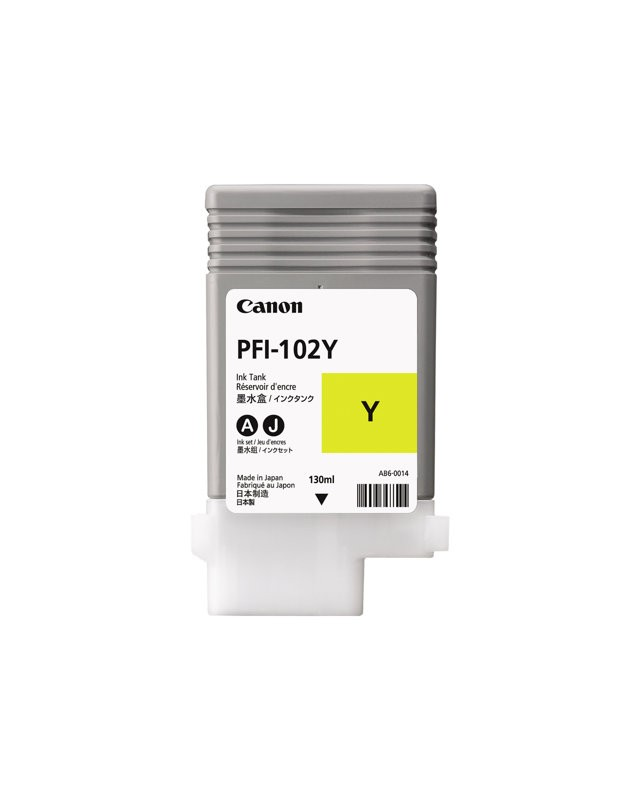 Canon PFI-102 Y Dye-Based Yellow Original Tintenpatrone