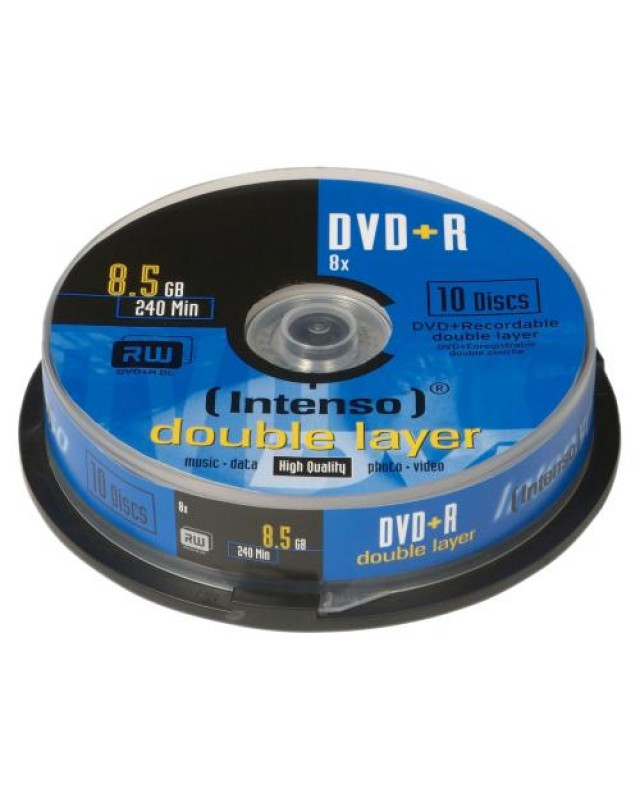 Intenso 10 x DVD+R DL 8.5 GB Rohling 8x Spindel
