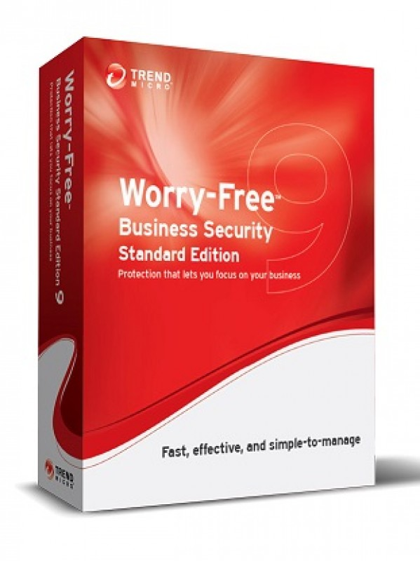 Trend Micro Worry-Free Business Security 9 Standard inkl. 1 Jahr Wartung, Lizenzstaffel, Win/Mac, Multilingual (1-5 User)