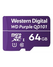 WD Purple 64GB Surveillance microSD XC Class 10 UHS 1 Flash-Speicher unsortiert (WDD064G1P0C)