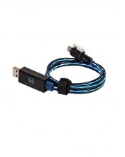 Ultron RealPower floating cable 2in1 Lade-/Datenkabel Lightning / USB Micro-USB Type B M bis M 74.5 cm Blau