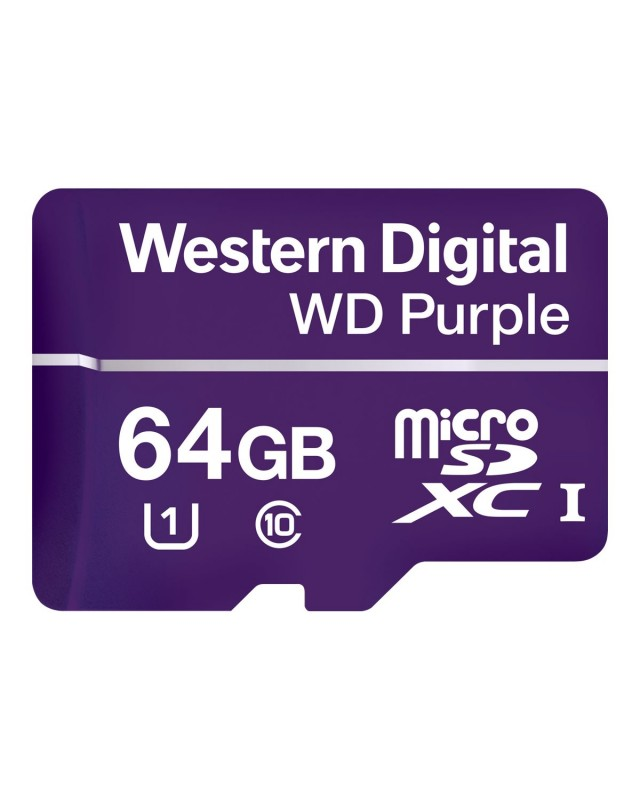 WD Purple Flash-Speicherkarte 64 GB UHS-I U1 / Class10 microSDXC Violett