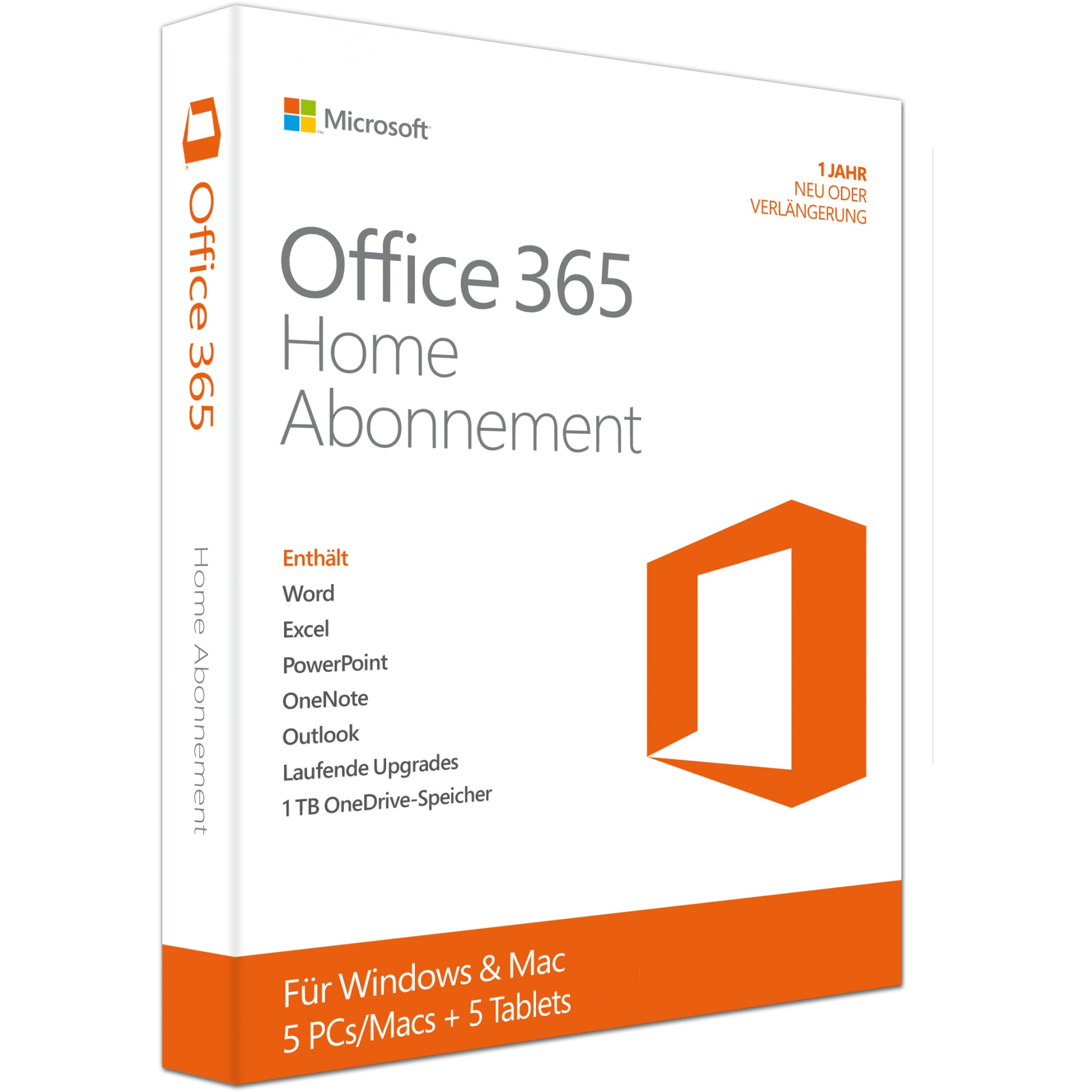 Microsoft Office 365 Personal 1 PC/MAC & 1 Tablet (Neuste Version) Download, Multilingual