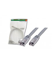 DIGITUS Premium Patch-Kabel RJ-45 M bis M 0.5 m FTP CAT 5e geschirmt Grau