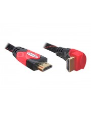 Delock High Speed HDMI with Ethernet mit Ethernetkabel M bis M 2 m rechts-gewinkelter Stecker