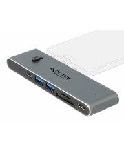 Delock Dockingstation 2x USB-C>2xUSB-C 1x USB-A 1xHDMI 1xSD 1xmSD Digital/Daten