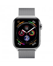 Apple Watch Series 4 GPS+ Cellular 44mm Stainless Steel Case with Milanese Edelstahl Silber