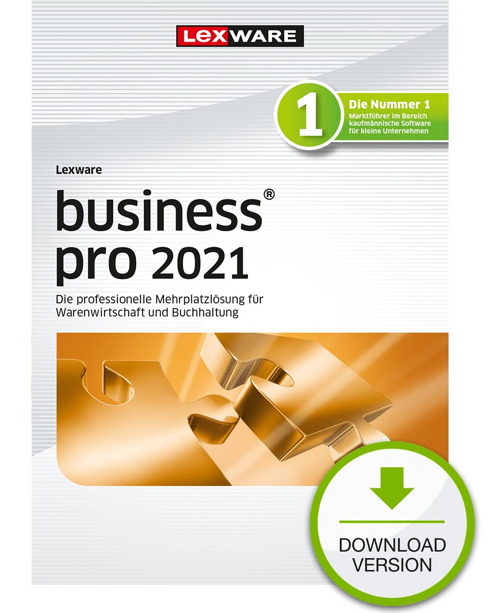 Lexware business pro 2021 1 Jahr 3 Benutzer Download Win, Deutsch