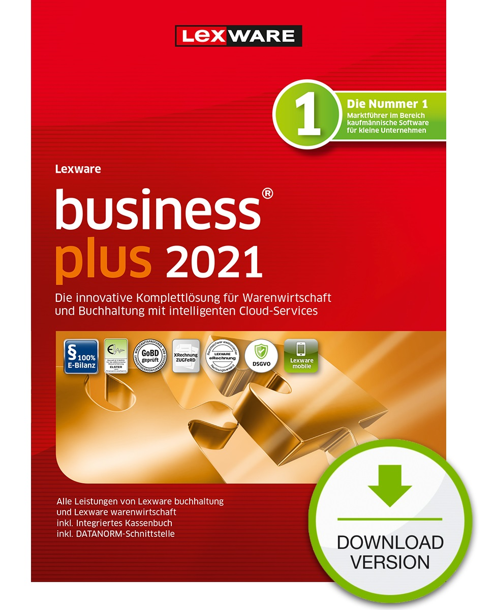 Lexware business plus 2021 1 Jahr 1 Benutzer Download Win, Deutsch