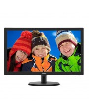 "Philips V-line 223V5LHSB2 LED-Monitor 55.9 cm 22"" 21.5"" Full HD 1080p 5 ms Textured Black Hairline EEK: B"