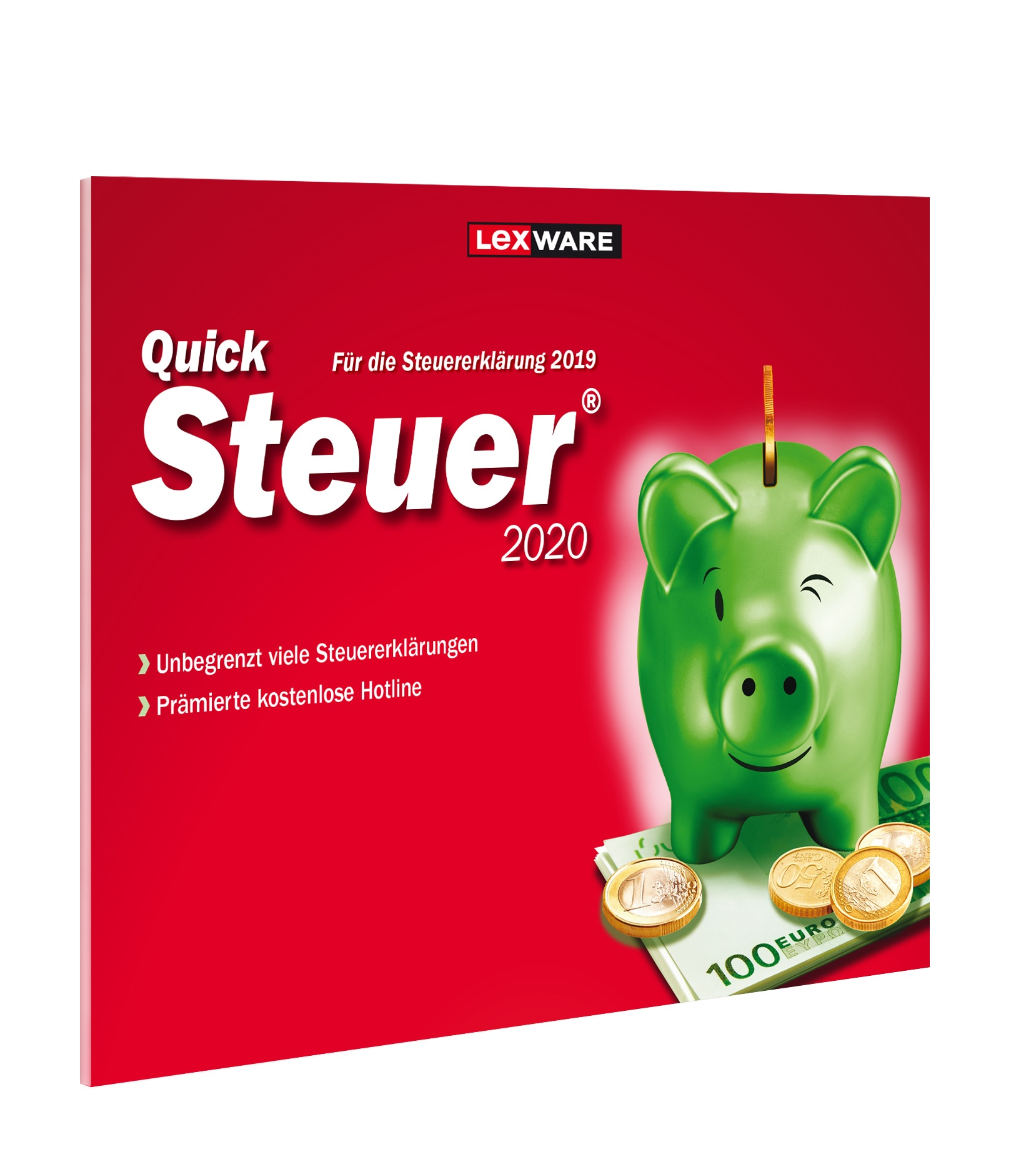 Lexware QuickSteuer 2020 Box-Pack 1 Benutzer Frustration-Free Packaging Win, Deutsch