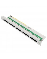 Helos ISDN Patchpanel Patch Panel RJ-45 4-polig X 25 RAL 7035 1U 48.3 cm 19""