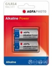AgfaPhoto Haushaltsbatterie Single-use battery C Alkali 2 x C Alkaline 1.5V LR14