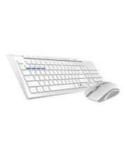 Rapoo 8200M Tastatur-und-Maus-Set kabellos 2.4 GHz Bluetooth 4.0 3.0 Deutsch
