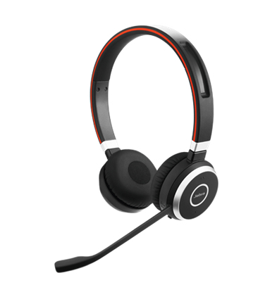 GN Netcom JABRA Evolve 65 MS Duo Headset USB Bluetooth Schwarz
