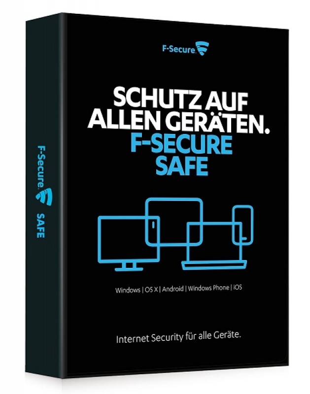 F-Secure Safe 3 User 1 Jahr Download Win/Mac/Android, Multilingual
