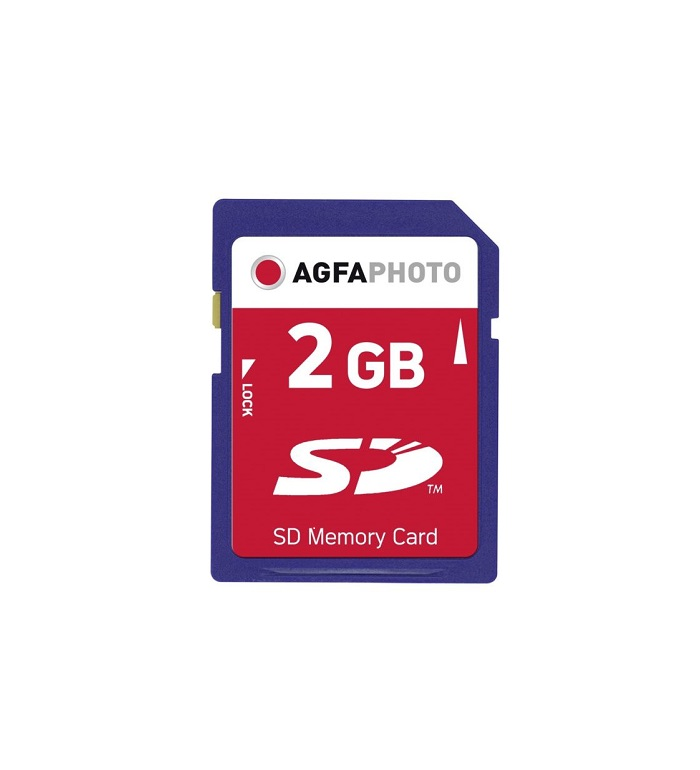 AgfaPhoto SD Karte 2GB 133x Premium Secure Digital 2 GB (10403P)