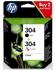 HP 304 Ink Cartridge Combo 2-Pack Original Tintenpatrone Schwarz