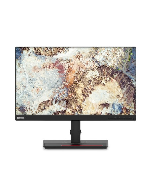 "Lenovo ThinkVision T22i-20 LED-Monitor 54.6 cm 21.5"" sichtbar 1920 x 1080 Full HD 1080p IPS 250 cd/m² 1000:1 4 ms HDMI VGA DisplayPort Raven Black"