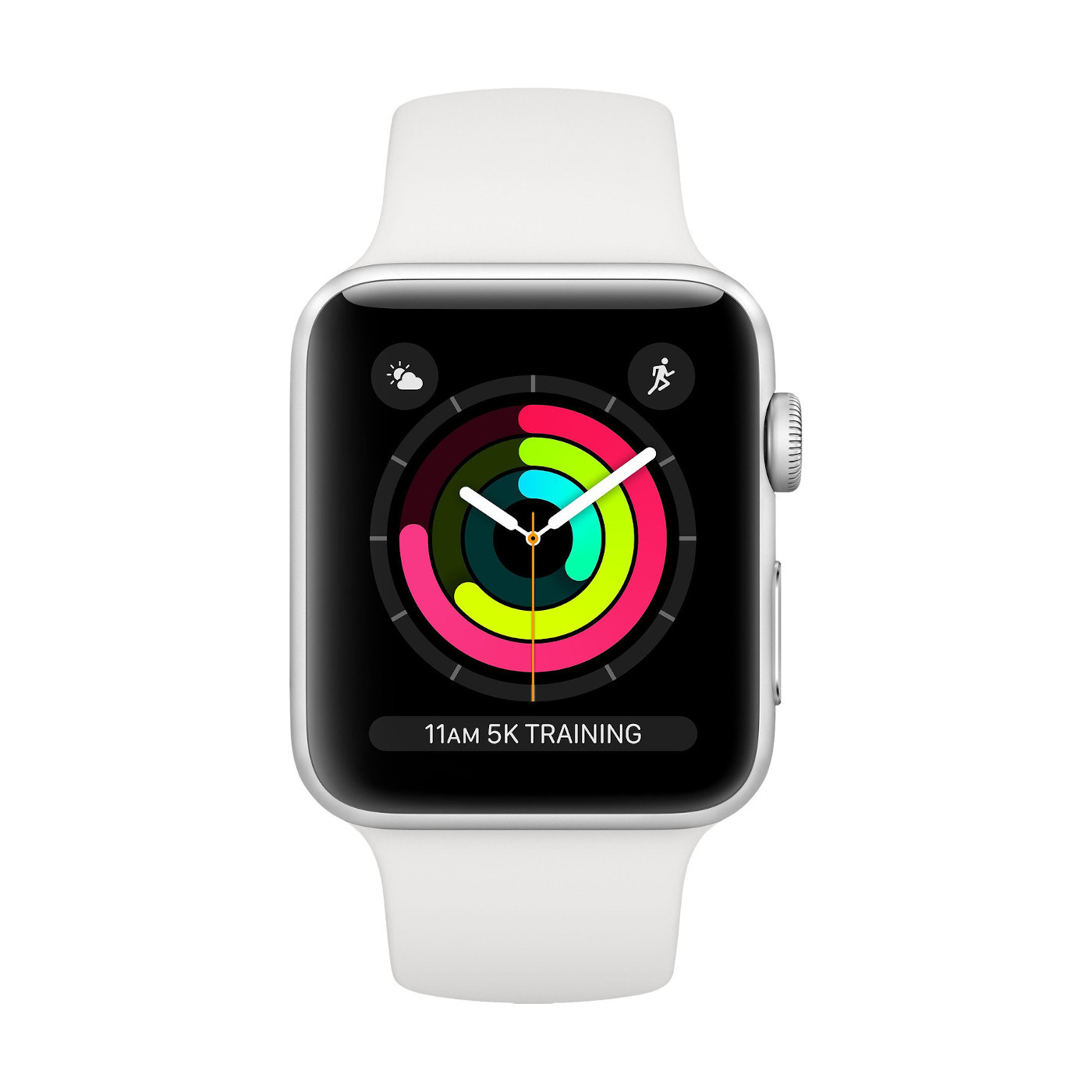 Apple Watch Series 3 GPS 38mm Silver Aluminium Case with White Sport Band Smart