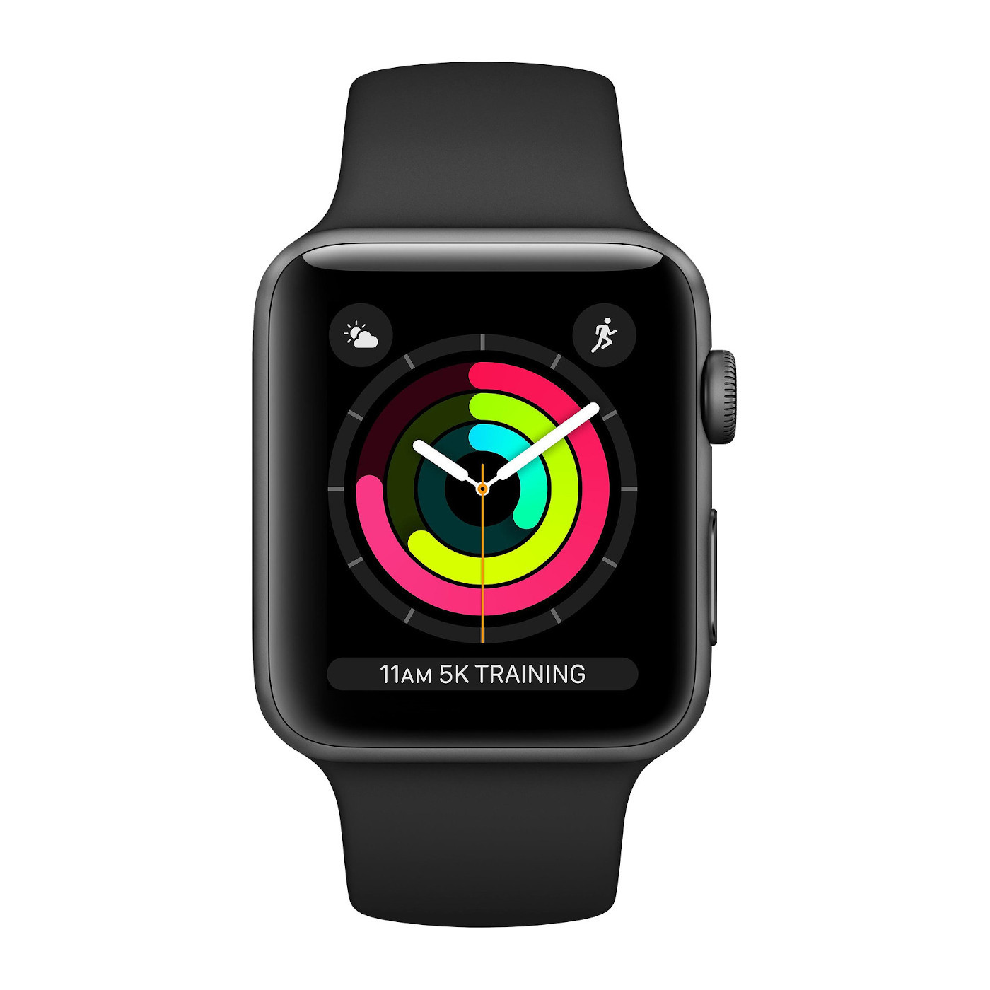 Apple Watch Series 3 GPS 42mm Space Grey Aluminium Case with Black Sport Smart (MTF32ZD/A)