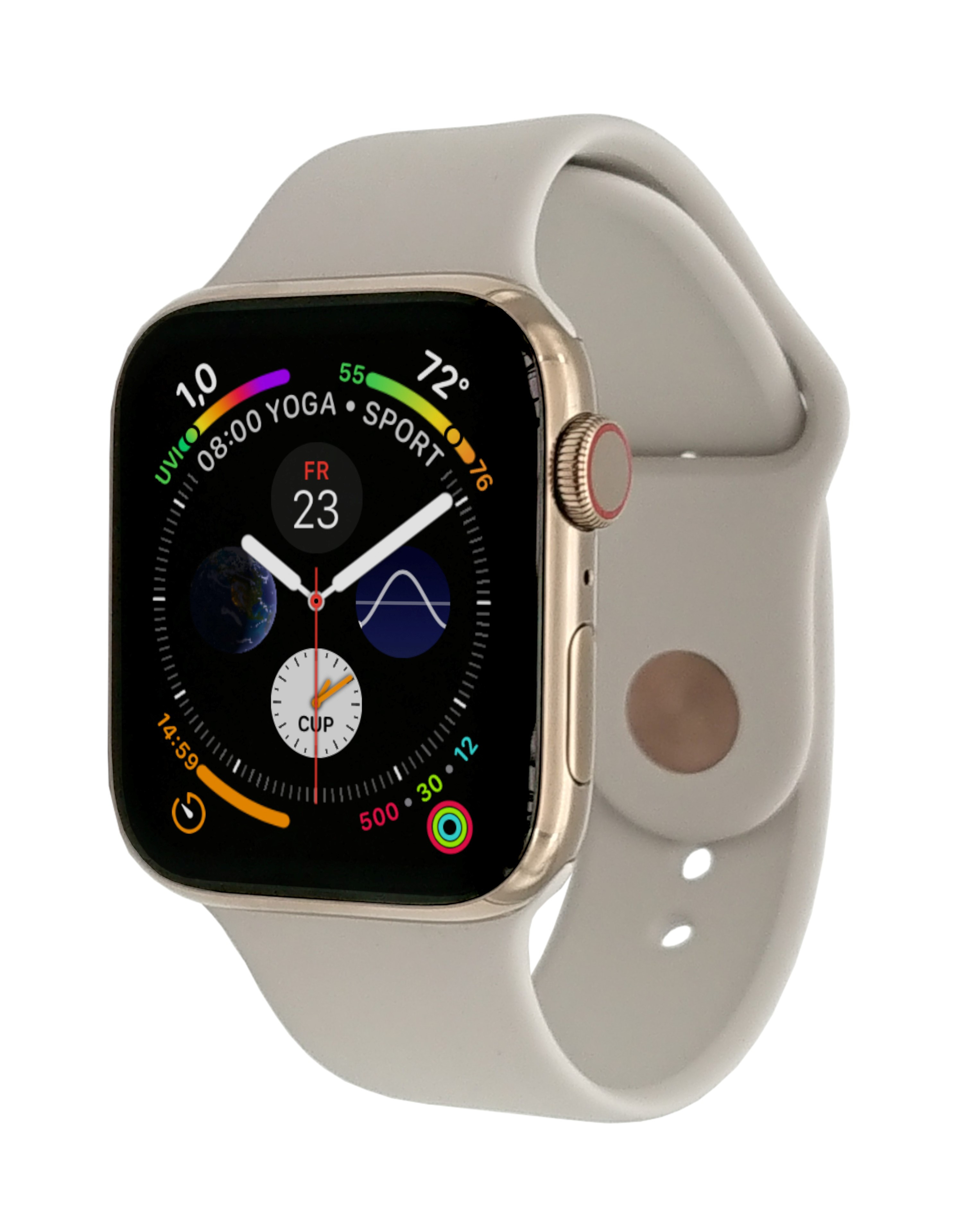Apple Watch Series 4 GPS+ Cellular 40mm Gold Stainless Steel Case with Stone Sport