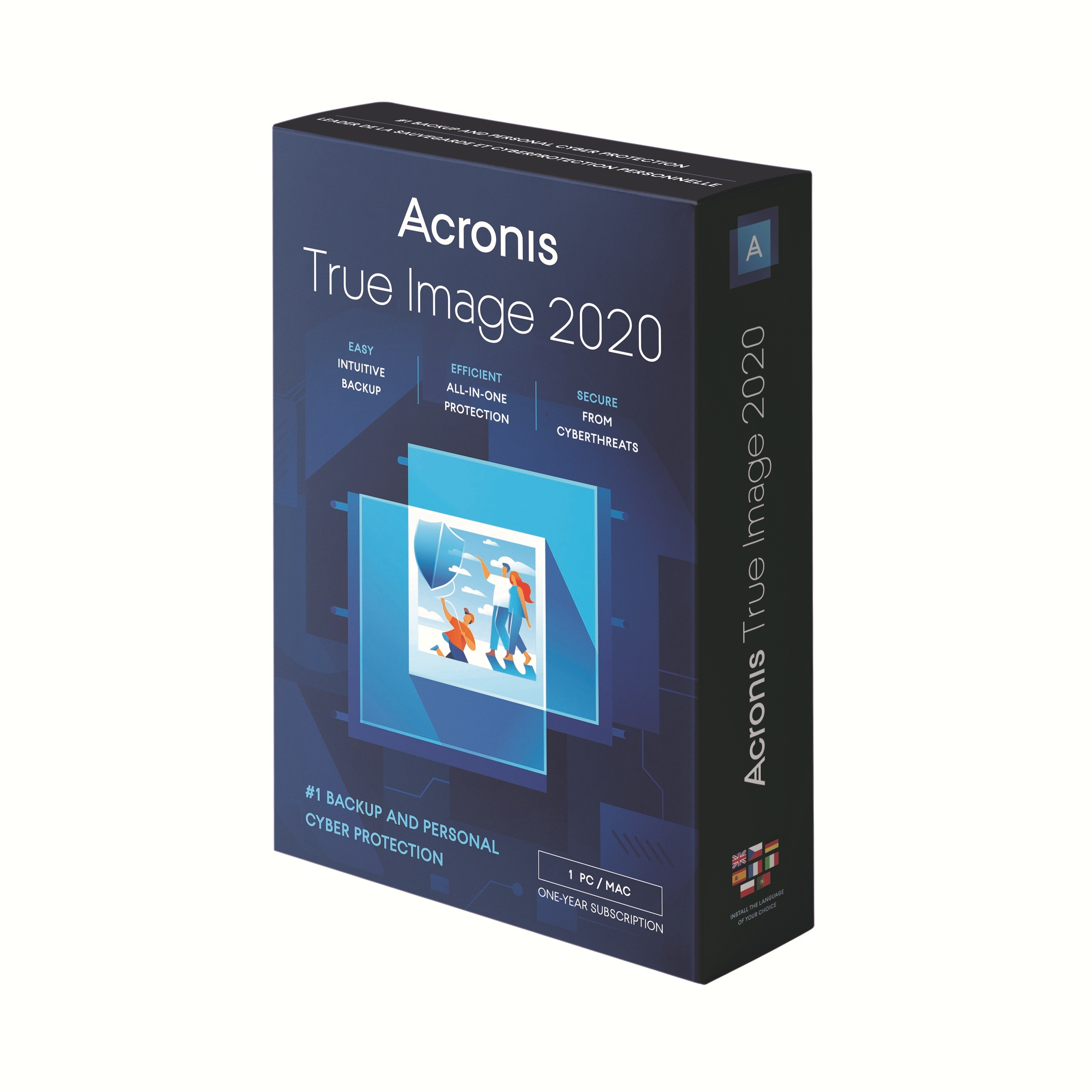 Acronis True Image 2020 1 Jahr 1 Computer 250 GB Cloud Speicher Box Win Mac Android iOS, Deutsch