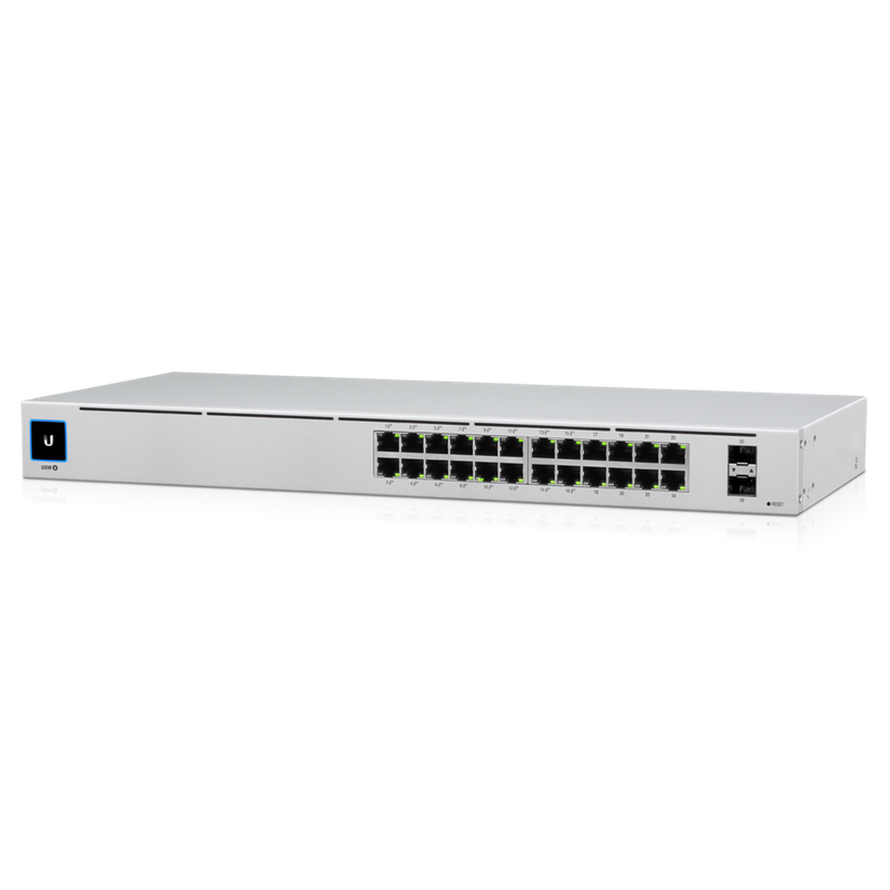 UbiQuiti SWITCH 24P PoE LAN Gigabit Layer 2 USW-24-PoE 2 di cui 2P 52 Gbps 24-Port Ethernet 1 HE