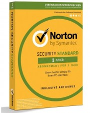 Symantec Norton Security Standard 3.0 1 Gerät 1 Jahr Abo Multiplattform, Deutsch (21355419)