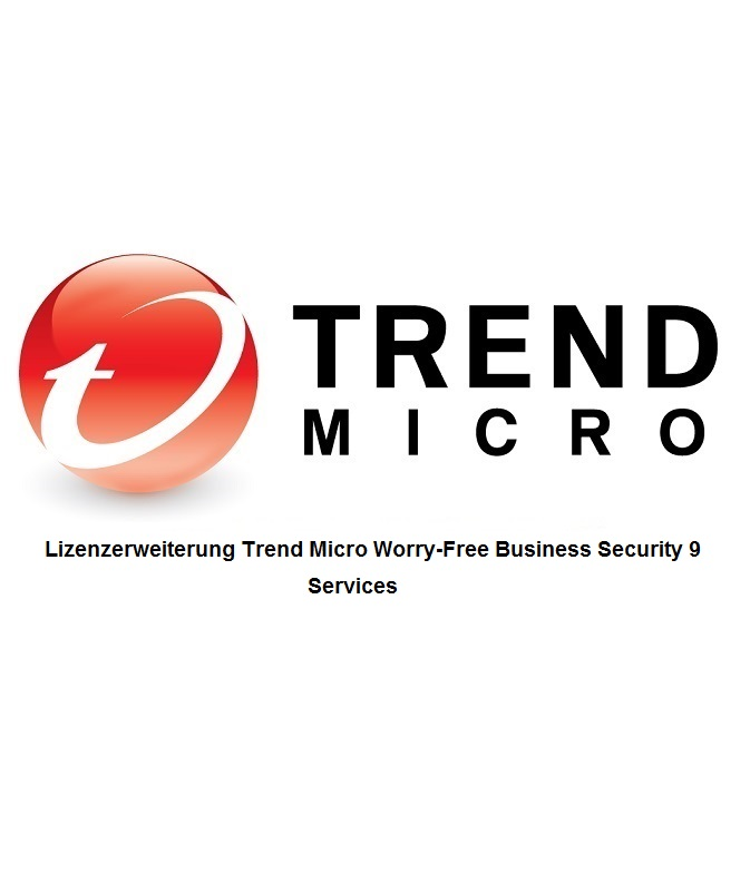 Lizenzerweiterung Trend Micro Worry-Free Business Security 9 Services inkl. 1 Jahr Wartung, Lizenzstaffel, Win/Mac/Android, Multilingual (51-100 User)